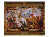 The Triumph of the Church  Chariot with the Church Carrying the Sacraments of the Eucharest