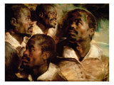 Studies of the Head of a Black Man