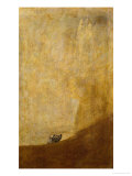 Dog  Half Submerged  on of the Black Paintings from the Quinta Del Sordo  Goya's House  1819-1823