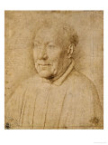 Cardinal Niccolo Albergati (1375-1443)  Red Crayon Drawing