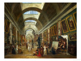 Restoring the Grande Galerie of the Louvre  1796  on the Right  Robert Painting