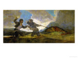 Duel with Cudgels  One of the Black Paintings from the Quinta Del Sordo  Goya's House  1819-1823