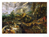 Landscape in a Thunderstorm  Philemon and Baucis  Jupiter and Mercury  circa 1620