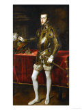 King Philip II of Spain (1527-1598)  the King in Armor; Morion and Gloves on a Table