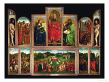 The Ghent Altar  Polyptych with the Adoration of the Mystical Lamb  1432