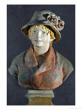 Mme Aline Renoir  Polychrome Terracotta  in Cooperation with Richard Guino