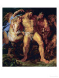 Hercules  Drunk  Led by a Nymph and a Satyr  circa 1612-14