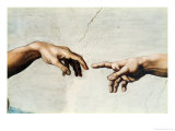 The Creation of Adam, Detail of God's and Adam's Hands, from the Sistine Ceiling Giclée par Michelangelo Buonarroti