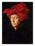 A Man in a Red Turban (Self-Portrait of Jan Van Eyck)  1433