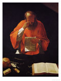 Saint Jerome Reading  Copy of a Lost Original
