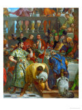The Wedding at Cana  Servants Pouring the Water  Miraculously Changed into Wine