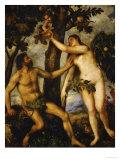 Adam and Eve  Around 1570