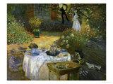 Le Dejeuner (Luncheon in the Artist's Garden at Giverny), circa 1873-74 Giclée par Claude Monet