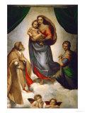Madone Sixtine, peinte pour le pape Jules II comme cadeau à la ville de Piacenza, Italie, 1512-151 Giclée par Raphael