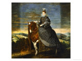 Margarete of Austria (1584-1611)  Wife of Philip III  on Horseback  1636