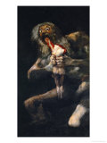 Saturn Devouring One of His Sons  from the Series of Black Paintings  1819-1823