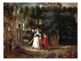Peter Paul Rubens (Self-Portrait) and His Second Wife Helene Fourment in the Garden