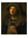 The Artist's Mother  as Prophetess Hannah