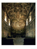 View of the Sistine Chapel Showing the Last Judgement and Part of the Ceiling (Before Restoration)