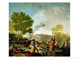 Picnic on the Banks of the Manzanares  Cartoon for a Tapestry  1775