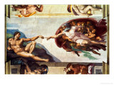 The Sistine Chapel; Ceiling Frescos after Restoration  the Creation of Adam