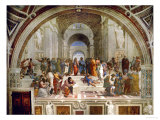 School of Athens, circa 1510-1512, One of the Murals Raphael Painted for Pope Julius II Giclée par Raphael
