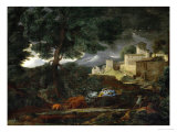 Landscape with a Tree Hit by Lightning  1651
