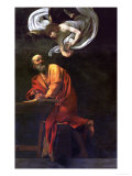 Saint Matthew Writing  Inspired by an Angel  1600-1602