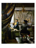 The Painter (Vermeer&#39;s Self-Portrait) and His Model as Klio