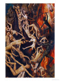 Triptych with the Last Judgement  Right Wing  Detail: Casting the Damned into Hell  1467-71