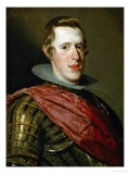 Philip IV (1621-1665) in Armour with General's Sash