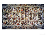 The Sistine Chapel; Ceiling Frescos after Restoration