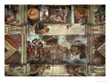 The Sistine Chapel: Noah's Drunkenness; the Flood