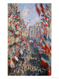 La Rue Montorgeuil, Paris, During the Celebrations of June 30, 1878 Giclée par Claude Monet