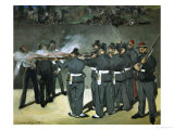 Oil Sketch for the Execution of Emperor Maximilian  1867