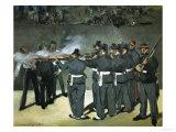 Oil Sketch for the Execution of Emperor Maximilian  1867