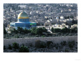 Jerusalem  Israel  View from the Mount of Olives  Dome of the Rock in the Center