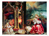 Concert of the Angels  the Madonna in Prayer  and Nativity  from the Isenheim Altarpiece  1515