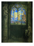 Le Vitrail  Stained Glass Window  1904  Gouache