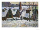 Breton Village Under Snow  1894