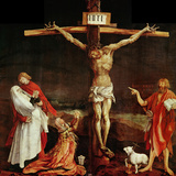Crucifixion  a Panel from the Isenheim Altar  Limewood (Around 1515)