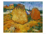 Haystacks in Provence  c1888