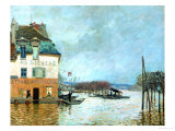 The Restaurant La Barque During the Flood at Port Marly