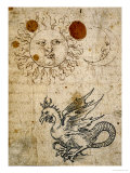 The Sun  The Moon and a Basilisk  Around 1512