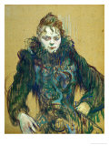 Woman with Black Feather Boa  1892