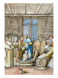 Maximilian's First Bath  from the Historia Federici III Et Maximiliani I