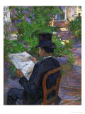 Desire Dihau (Reading a Newspaper in the Garden)  1890