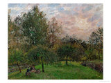 Apple Trees and Poplars in a Sunset  1901