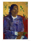 Tahitian Woman with a Flower  1891