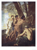 Et in Arcadia Ego  Arcadian Shepherds Try to Decipher the Inscription on an Ancient Sarcophagus
